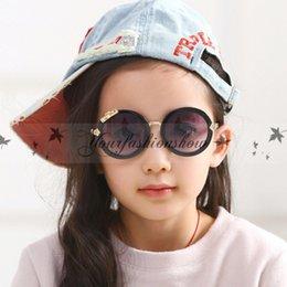 Wholesale Fashion Luxury Brand Designer Kids Round Sunglasses Children Girls Cute Mirror Baby UV400 Mirror Kawaii Circle Diamond Sun Glasses M94