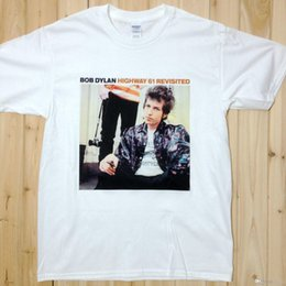 Wholesale Bob Dylan Highway Revisited Rock Music Band Tee T Shirts Unisex BD1