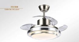 Invisible fan lamp ceiling fan light dining room bedroom home minimalist modern LED fan Chandelier