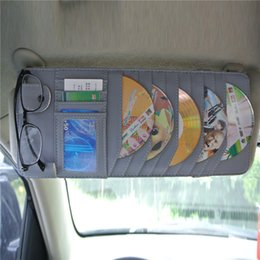 Wholesale PU Leather Multi function CD Holder for Auto Small Classical Car Sunshade with Large Capacity Flexible Space