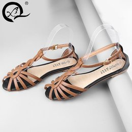 Wholesale sexy lady summer leather lace up strap hollow slingback high heel sandal coffee yellow pink large size real photos colors