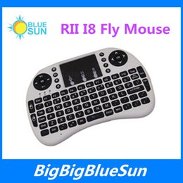 Wholesale Best sell Fly Air Mouse G RII Mini i8 Wireless QWERTY Keyboard Mouse Remote Controlers Touchpad for PC Notebook Android TV Box