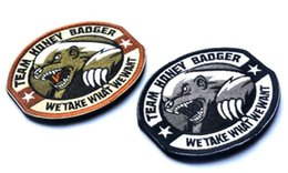 GPS-024 3.5*3 inch High quality 3D Embroidered Pacthes with magic tape Team Honey Badger Miltary Tactical US Army ISAF Morale Combat SWAT