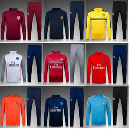 Wholesale 2016 Dortmund Arsenal Manchester City PSG Atletico Madrid Messi POGBA torres training services suite the best quality trackssuit