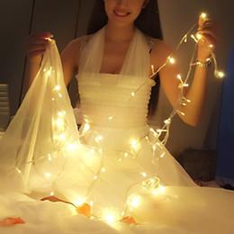 2017 luces de hadas blancas con pilas Cadena de Luz LED de colores Hada blanca cálida cadena Holiday Party Lámparas Decoración de la Navidad llevada cadena 4M 40LEDs alimentado por batería luces de hadas blancas con pilas outlet