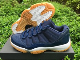 2016 For Sale Cheap High Quality Air 11 Low Navy Gum low men White Black Red Cheap 8-13