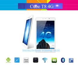 """Ips tableta al por mayor en venta-Al por mayor-Cubo original T8 último 4G LTE Tablet PC 8 """"IPS cámara 1920x1200 androide 5.1 MTK8783 Octa Core llamada de teléfono 2 GB de RAM 16 GB de ROM 5MP"""