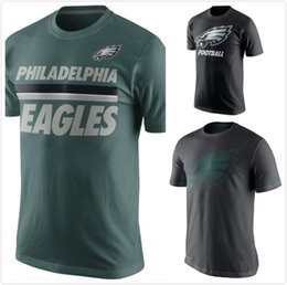 Wholesale Eagles Team Travel Performance Stripe T Shirt Charcoal mens short sleeve sports TShirt Men s Clothing TShirts Size S XL