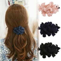 Wholesale Hot Women Girl Handmade Pretty Flower Chic Banana Barrette Girls Hair Clip Charm Hair Beauty Claw Jewelry