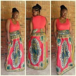 Red print african dashiki dress plus size long dress summer vintage traditional african clothing vestidos de fiesta