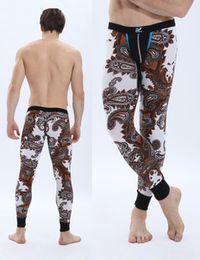 Wholesale-Floral Dot Spring Autumn Winter Men's Thermal Clothing Long Johns Bottom,Mens Low Waist Pajamas Pants Bottom High Quality CK4