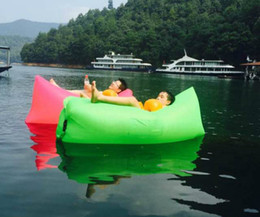 Wholesale Outdoor Fast Inflatable Lounger Air Sofa Camouflage Camping Banana bear Sleeping Lazy Bag Hangout Laybag For Beach Chair Travel