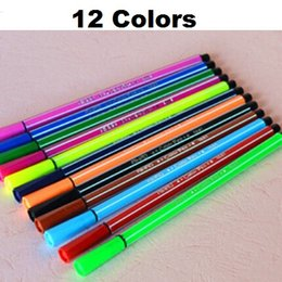 24pcs lot Non-toxic Water color pen brush Marker for kids school stationery  Art Marker Highlighter for art supplies Wholesale