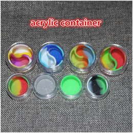 Wholesale Non Stick mm Silicone Concentrate Containers For Wax Tubs Lego Tool ml With Acrylic Shield Nonstick Goo Free Hookah Gel Wax Oil