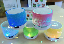 Wholesale New MINI LED Bluetooth Speaker Wireless Portable Speakers A9 Subwoofer Stereo HiFi Player for IOS Android Phone DHL Free