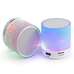 Wholesale A9 mini Wireless Portable speaker Subwoofer Stereo HiFi Player LED bluetooth speakers TF Card for IOS android phone