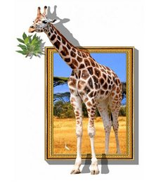 (Unframed) Abstract 3D Giraffe Modern Home Decor Wall Art Canvas Animal Picture Print Oil Painting Canvas Arts