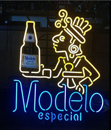 Modelo Man Cave Real Glass Neon Light Sign Home Beer Bar Pub Recreation Room Game Room Windows Garage Wall Sign