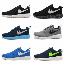 Wholesale 2016 brand good Best quality roshe Run black and white Running shoes Size