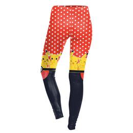 Wholesale New Arrival Sexy Girl Women Poke Ball Pikachu polka dot D Prints Running Jogging Elastic GYM Fitness Sport Leggings Yoga Pants