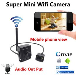 Wholesale New P mini IP camera Hidden wireless p2p cam Onvif HD wifi cameras cctv security system with audio for home door video