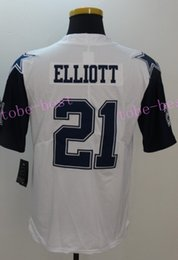 Wholesale elliott white rush limited Elite Football Jerseys Best quality Authentic Jersey Embroidery Logo Size M XL Can Mix Order