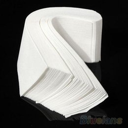 100 pcs Hair Removal Depilatory paper Nonwoven Epilator Wax Strip Paper Roll Waxing 09BI