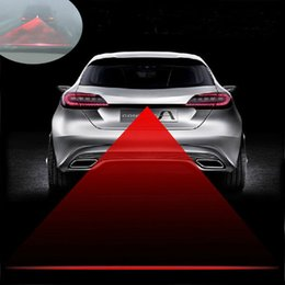 Car Laser LED Tail Fog Light TIMO Rear Anti-Collision Safety Signal Warning Lamp 12V #21