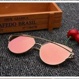 Gafas de sol de color rosa en Línea-Las gafas de sol del metal de la manera al por mayor-2016 roscan las gafas de sol del diseñador de la marca de fábrica los gafas de sol b149