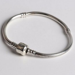 Wholesale Fashion Silver Absolutely pure silver Authentic Plated Bracelet Fit Pandora Bracelet or Chamilia Bead Charms
