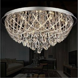 Wholesale New Outlets new technological processes scale modern K9 Crystal Ceiling Lighting LED Ceiling modern