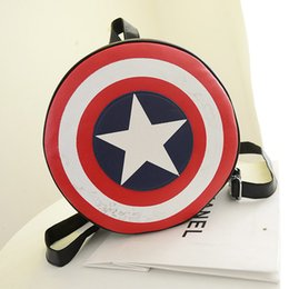Wholesale Preppy Style fashion backpack avengers alliance captain America shield Outdoor Packs size Geometric picture pack Z M673