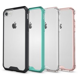 Wholesale 2016 New Iphone7 mobile phone shell cover frame acrylic protective sleeve iphone7 mobile phone set transparent gasbag fall proof iphone s