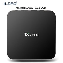 Wholesale TX3 PRO TV Box Amlogic S905X GB GB Android Set Top Media Player support H H super HD Video Playback Best TV Internet Box