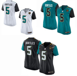 Wholesale Women s Elite Jacksonville football jerseys Jaguars jerseys Blake Bortles Black Green white Cheap soccer rugby t shirts