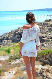 SUMMER DRESS Women Hollow Out White Lace Beach Dresses Freeshipping
