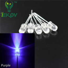 5000pcs lot High Quality 5MM Round Top Purple UV leds 5mm Ultra Bright light Emitting Diodes LED Electronic Components Wholesale