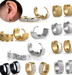 2016 Classic Design Cool Rock Unisex Goth 316L Stainless Steel Earrings Shiny Crystal Studs Earring for Man Woman Promotion!! Free Shipping
