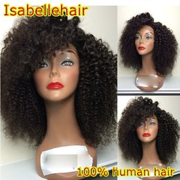 Fashion Afro Kinky Wig Brazilian Virgin Short Curly Lace Front Wigs   Human Hair Full Lace Wigs For Black Women With Baby Hair