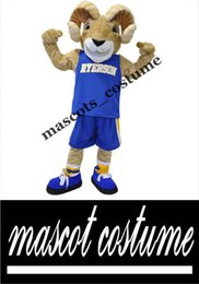 Wholesale Sport Team Ram Ryerson Halloween Dress Mascot Costume Party Costume Character Cartoon Adult Size Real Pictures
