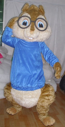 Wholesale 0524 adult alvin the chipmunks mascot costume with mini fan inside the head for sale
