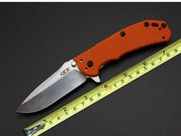 2016 Latest Women Zero Tolerance Knives Orange G10 Handle D2 60HRC Blade Folding EDC Pocket Rescue Knives With Clip Gift Knife F461E