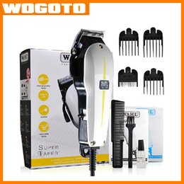 Wholesale Hot Selling Professional WAHL Super Taper Hair Clipper Sharp Razor Corded Hair Cut Men Hair Removal free DHL Wogoto