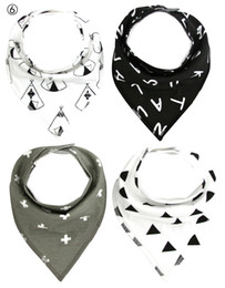 Wholesale 2016 INS Hot cotton cute Double layer cloth Babys Bibs Burp for feeding Cloths Triangle towel a set By EMS c0001