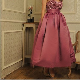 2016 Simple Evening Dresses Sweetheart Sleeveless Ankle Length Sequins Appliques made of Satin Skirt Formal Prom dresses Middle East Styles