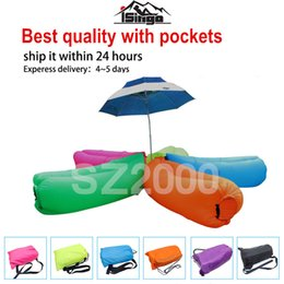 Wholesale US stock lamzac inflatable air lounge sleep lamzac hangout Laybag KAISR Beach Sofa Lounge only Seconds Quick Open Lay bag