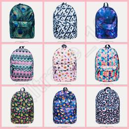 Wholesale 50PCS LJJH1322 Hot New Style Fashion Emoji Plaid backpack D Printing Travel Bags Cool School bag
