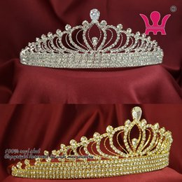 Wholesale Recommand Zircon Crystal Rhinestone Crowns Tiaras Bridal Wedding Hair Accessories Princess Queen Formal Party Prom Night Clup Show