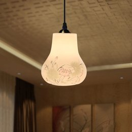 Wholesale Vintage Ceramic Pendant Light For Living Room E27 V V Gourd Lamp Artistic Pendant Lamp