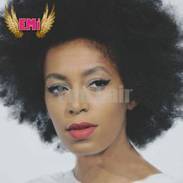 Wholesale Short Afro Curl Wig - Synthetic Afro Kinky Curly Wig Heat Resistant lace front wig African American Short Wigs For Black Women Cheap Curl Female Wig
